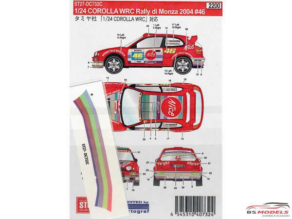 STU27DC732C Toyota Corolla Rally di Monza 2004  #46 Waterslide decal Decal
