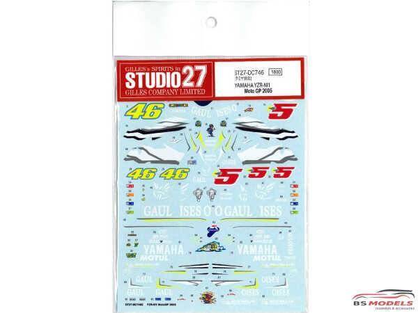 STU27DC746C YZR-M1  Moto GP 2005 Waterslide decal Accessoires