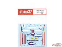"STU27DC990 Porsche Cayman ""Rothmans"" #1 Waterslide decal Accessoires"