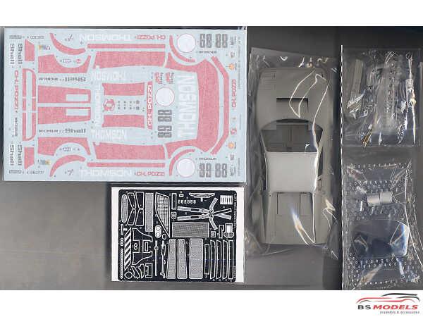 """STU27FR2408 Ferrari 512BB  LM  """"Thomson"""" #88 LM 1978 Multimedia Kit"""