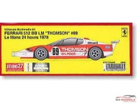 "STU27FR2409 Ferrari 512BB  LM  ""Thomson"" #89 LM 1978 Multimedia Kit"