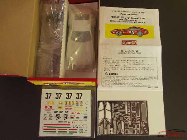 """STU27FR2412 Ferrari 365 GTB4 Competizione #37 """"NART""""  LM 1973 Multimedia Kit"""