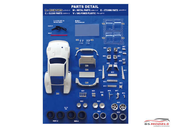 """STU27TK2474R Porsche 935 """"Kremer""""  #51  Zolder 1977  Transkit for TAM Multimedia Transkit"""