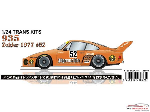 """STU27TK2475R Porsche 935 """"Jaegermeister""""  #52  Zolder 1977  Transkit for TAM Multimedia Transkit"""
