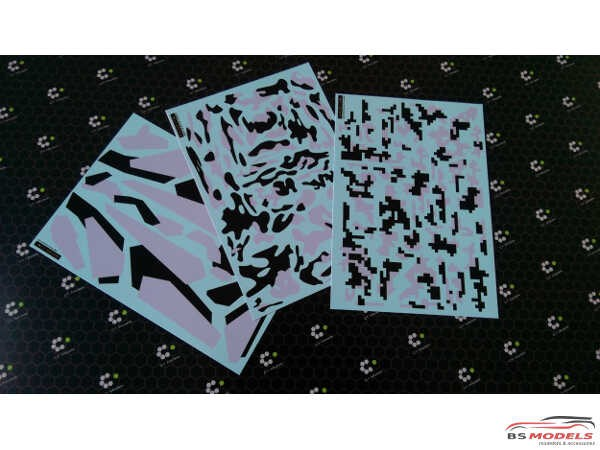 C1DEC002 Urban Digi Camo (Black/Grey) Waterslide decal Decal