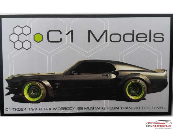 C1TK024 RTR-X  Widebody 69 Mustang Transkit Resin Transkit