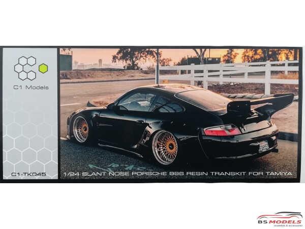 C1TK045 Slant Nose Porsche 996 Transkit  (For TAM) Resin Transkit