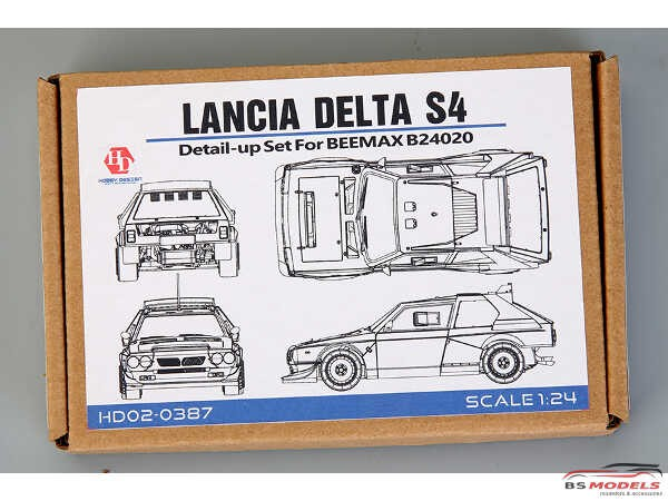 HD020387 Lancia Delta S4  detail set (PE+resin+metal parts) For Beemax Multimedia Accessoires