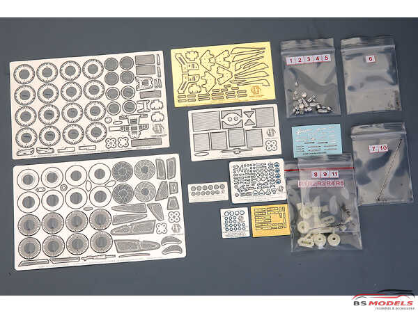 HD020388 Pagani Huayra Detail set (PE+resin+metal parts+logo) for AOS 055991 Multimedia Accessoires