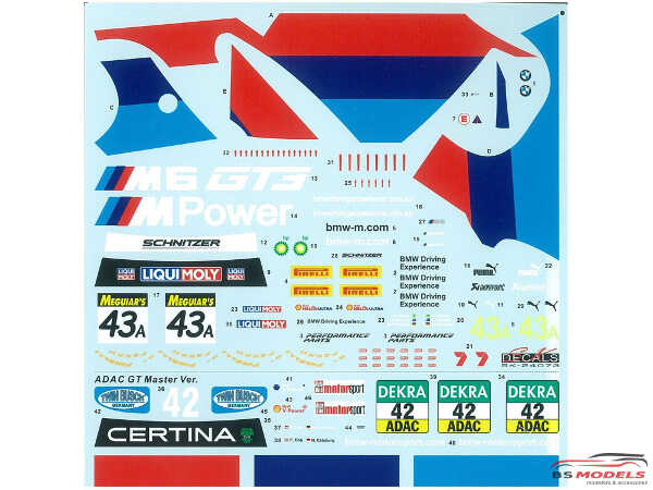 PLZPN24003 BMW M6 GT3 2016 Italia Monza / Bathurst Plastic Kit