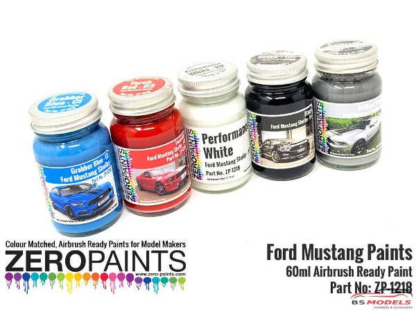 ZP1218-CI 2010 Ford Mustang Shelby   Grabber Blue CI  60 ml Paint Material