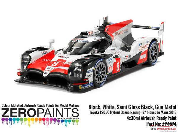 ZP1574 Toyota TS050  Hybrid Gazoo Racing  Paint set 4x 30ml Paint Material