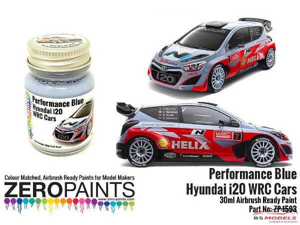 ZP1593 Hyundai i20 WRC Performance blue paint 30ml Paint Material