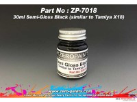 ZP7018 Semi-Gloss black - similar to X18  30ml Paint Material