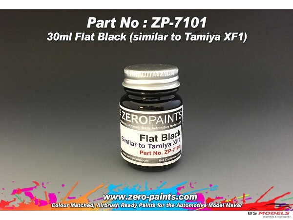 ZP7101 Flat Black - similar to XF1   30ml Paint Material