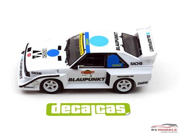 DCLDEC016 Audi Quattro Sport S1 Team E.G. Motorsport   Race of Champions 1990 Waterslide decal Decal