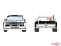 DCLDEC019 Audi Quattro Sport S1 Audi Sport Team  Toyota Olympus Rally 1985 Waterslide decal Decal
