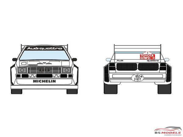 DCLDEC019 Audi Quattro Sport S1 Audi Sport Team  Toyota Olympus Rally 1985 Waterslide decal Decal