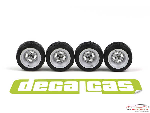 DCLPAR008 Abarth Cromodora  resin rims for Fiat 131 Resin Accessoires