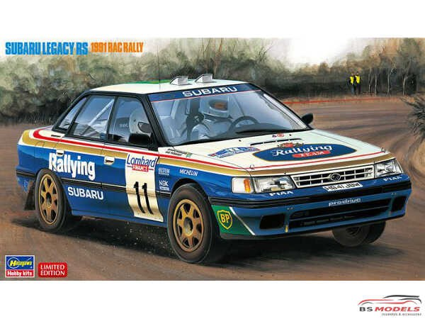 HAS20390 Subaru Legacy RS 1991  RAC Rally Plastic Kit