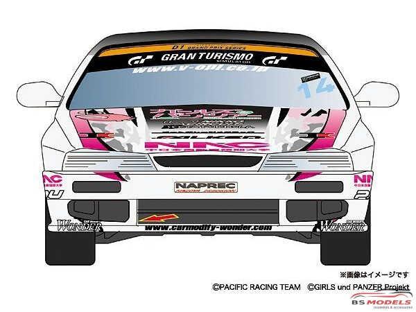 PLZGPR-1 Pacific Racing NAC  Girls & Panzer Nissan Silvia S14 Plastic Kit