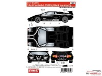 STU27DC1223 Lamborghini Countach LP500S  (Black Body) Waterslide decal Decal
