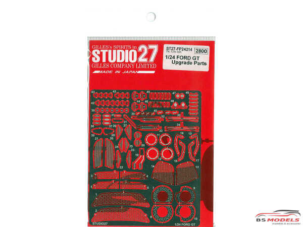 STU27FP24124 Ford GT Upgrade parts For Tamiya Multimedia Accessoires