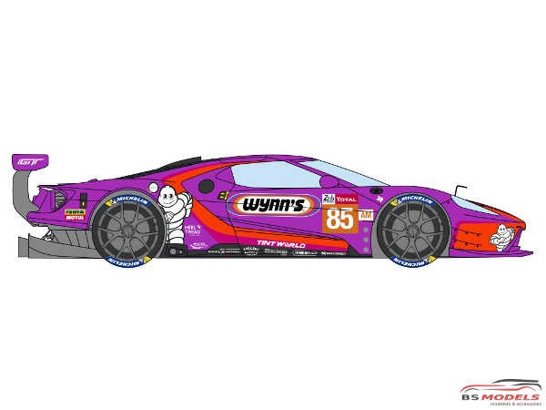 "DCLDEC035 Ford GT ""Keating Motorsport""  24H Le Mans 2019  #85 Waterslide decal Decal"