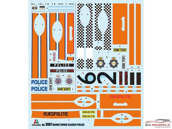 """ITA3661S Range Rover """"Police"""" Plastic Kit"""