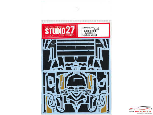 STU27CD24035 Toyota TS050 LM carbon decal Waterslide decal Decal