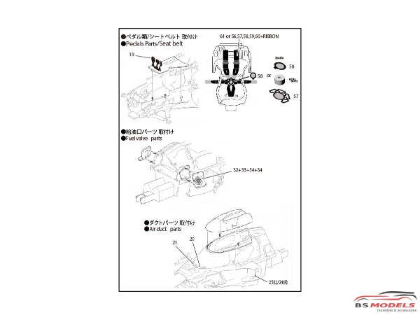STU27FP24215 Toyota TS050  LM upgrade parts Etched metal Accessoires