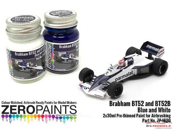 ZP1620 Brabham BT52 / BT52B Blue and White paint set 2x30ml Paint Material