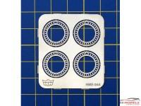HME044 Beetle/Bus beauty rings Etched metal Accessoires