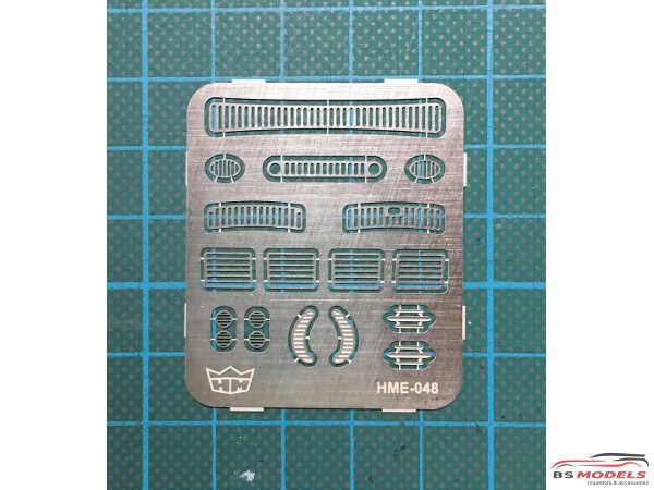 HME048 Beetle Grill set Etched metal Accessoires