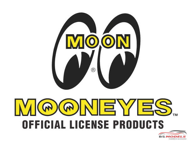 HME054 MOONEYES Bumber emblems Etched metal Accessoires