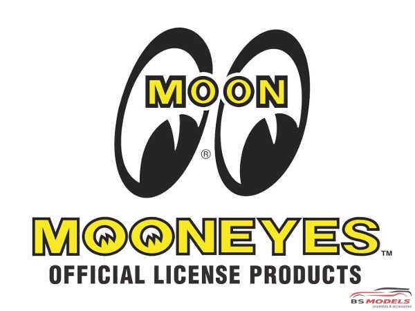 HME055 MOONEYES Car club plaques Etched metal Accessoires
