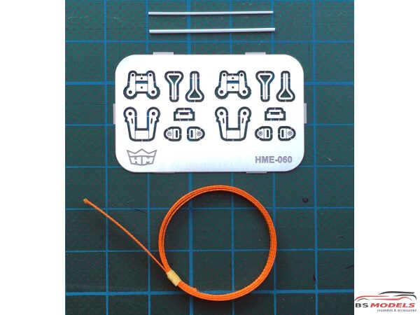 HME060 Ratchet straps Etched metal Accessoires