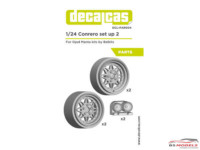 DCLPAR004 Conrero set up 2 - Rally Rims 15 inc + lights Resin Accessoires