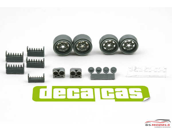 DCLPAR004 Conrero set up 2 - Rally Rims 15 inc + lights Resin Accessoires