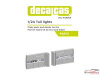 DCLPAR009 Tail Lights for Fiat 131 Abarth Resin Accessoires