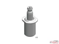 DCLPAR011 Air Jack connection valve  12 pcs Resin Accessoires