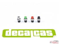 DCLPAR024 Push Button  32 pcs Resin Accessoires